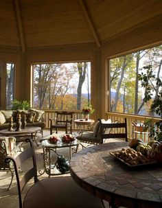 Western NC Mountain Home Outdoor Porch, Walnut Cove, Arden, NC