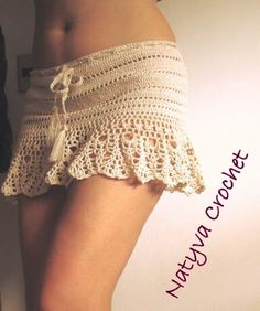 Faldas Playeras Tejidas A Mano, Natyva Crochet. - Bs. 4.300,00