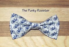 Bike Bow Tie Clip on Bow Tie Boys Bow Tie by ThePunkyRooster, Bicycle bow tie, Bike