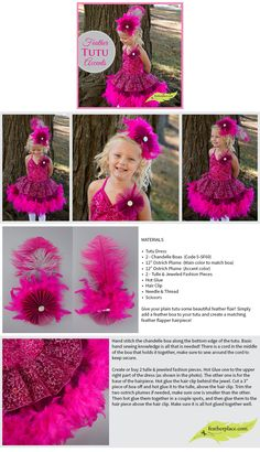 Feather Tutu Accents #diy #feathertutu  #diywithfeathers #thefeatherplace