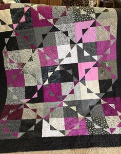 Thank you Deb Blaufuss for sharing this striking Kira quilt. I love the pop of magenta/purple!