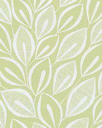 Tapet 38529: Leaves Teal With White från MissPrint - Tapetorama