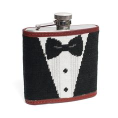 Black Tie Affair Needlepoint Flask