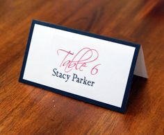 Custom Place Cards, Seating Cards, Escort Cards, Personalized, Wedding, Reception, Table Numbers, Table Card, Simple, Elegant, Border. .65, via Etsy.