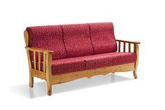 Divano 3 Posti Modello ELISA - Fusto in Pino Massello con cuscini sfoderabili, ergonomici e a densità differente per seduta e schienale. #sofa #divano #legnodipino #madeinitaly #furnitures #mobili #country #pinewood #legnomassello  www.demarmobili.it