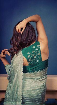 Sari Design, Silk Saree Blouse Designs, Fancy Blouse Designs, Blouse Neck Designs, Lehenga, Stylish Blouse Design, Designer Blouse Patterns, Halter Neck, Classy
