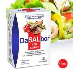 O prazer de uma refeição salgada e sem sódio agora é possível. DaSALbor. O primeiro produto salgante totalmente isento de sódio agora aqui na Conan Nutrition. Peça já o seu antes que acabe o primeiro lote.