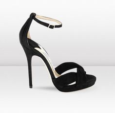 Jada Black Suede Platform Sandals  by Jimmy Choo
