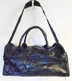 Vintage Black Leather Tote Carry On Bag by English Leather New With Tags Unisex. $44.95, via Etsy.