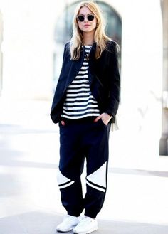 19 Chic Sweatpant Looks to Try This Fall via Brit + Co
