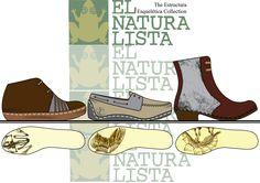 Design brief for El Naturalista. Mens footwear for Autumn/Winter 2014/15.  Footwear collection.