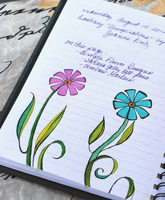 This is another great page from Bonita's Art Journal - Zenspirations 2 Simple Floral Designs | Flickr - Photo Sharing!