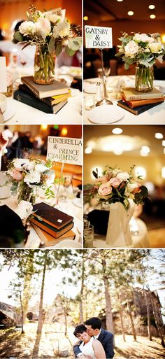 Someday, I want a literature themed wedding! Pink Shabby Chic Weddings 5, real weddings ideas and trends