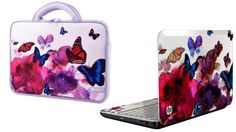 HP 14 Butterfly Blossom G4-2149se Designed Laptop » Cool Gadget Gifts for Her