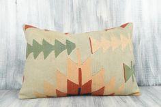 16x24 Ethnic Kilim Pillow Bohemian Kilim Pillow Decorative | Etsy Brown Pillows, Aztec Pillows, Brown Cushion Covers, Pillow Covers, Kilim Cushions, Kilim Pillows, Weaving Techniques, Decorative Throw Pillows, Hand Weaving