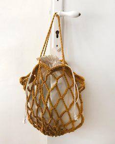 Mustard Crochet Bag