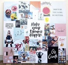 26 Vision Board Ideas for Your Important Goals in 2020 Goal Board, Creating A Vision Board, Visualisation, Goal Planning, Planner, Board Ideas, Inspiration Boards, Creative, Affirmations