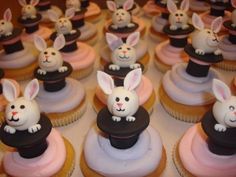 Magic Hat with Rabbit coming out - These cupcakes were for a magic party.