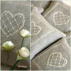 linen lavender sachets wedding favor wedding by BelaStitches
