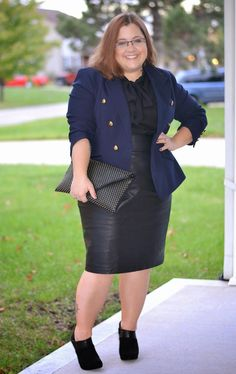 curvy and petite style, faux leather, military, black and navy, work style, fashion, The Limited http://stylecassentials.blogspot.com/2014/10/black-and-navy.html