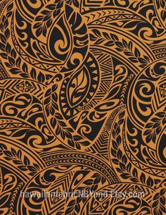 Tattoo fabric: Halloween Polynesian Tribal  tapa fabric for lavalava costume, many fashion and crafts. By HawaiianFabricNBYond.etsy.com