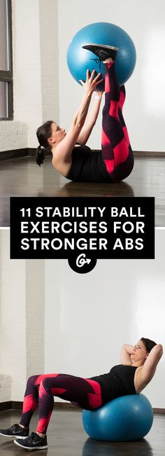 The Best Stability Ball Moves for a Strong Core #stabilityball #abs #exercises http://greatist.com/move/abs-workout-best-stability-ball-moves-for-your-core