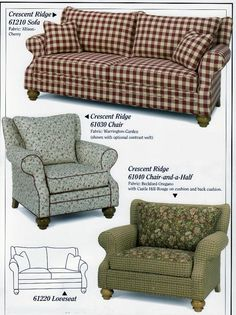 Carolina Country Furniture!  Finally a couch I like - not the same old, plain jane boring couch!