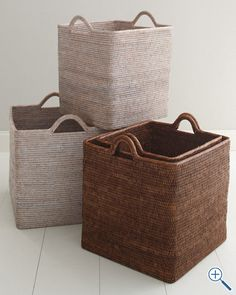 Woven Storage Basket-a beachy sort of hamper :) Toy Storage, Storage Baskets, Basket Weaving, Hand Weaving, Woven Baskets, Bath Accessories, Decorative Accessories, Rattan Basket, Decorative Storage