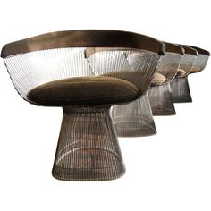 Vintage Nickel Chairs by Warren Platner (1941 - 2006) for Knoll. #modernism #chair #knoll