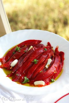 Roasted peppers and marinated and Italy - Peperoni arrosto Marinati