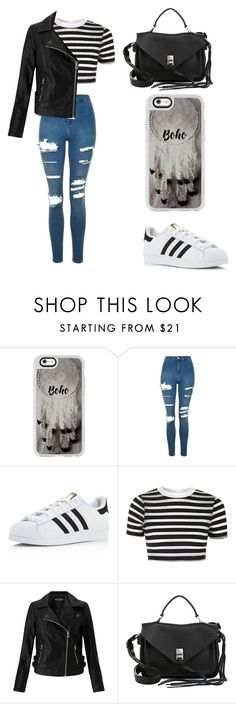 """""""Untitled #222"""" by karenrodriguez-iv on Polyvore featuring Casetify, Topshop, adidas, Miss Selfridge and Rebecca Minkoff"""
