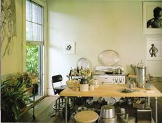 Kitchen of New Orleans artist, George Dureau. http://www.richardsextonstudio.com/elegance.html