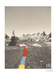 Technicolor Trail Giclee Print by Danielle Kroll at Art.com, 12 x 16, $40