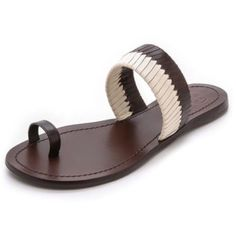 f31b53f3a2d Tory Burch Bi Color Woven Dark Brown Sandals. Get the must-have sandals of