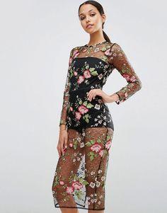 ASOS+Lace+Floral+Mesh+Bodycon+Dress+with+Bodysuit