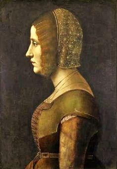Ambrogio de Predis, (Italian artist, 1455-1508) A Lady 1490s