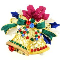 Christmas Bell Christmas Wreath Pin Crystal Christmas Pin Brooch And Pendant(Chain Not Included) Fantasyard. $10.59. Gift box available for an additional fee. Please check out through gift-wrap option. Exquisitely detailed designer style. Other color available. Save 47%!