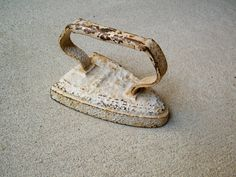 Cast Iron Iron / Paper Weight / Painted by assemblage333 on Etsy, $24.00