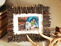 The handmade experts at HGTV.com share instructions for a rustic twig frame kids can make as a Father's Day gift.
