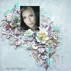 "Layout ""My secret garden"" for zhazhda-tvorchestva.blogspot.com  @primamarketinginc @altenewllc #primaflowers  #altenew #primamarketing  #primawatercolorpencils"