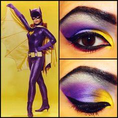 Batman 66's Batgirl inspired makeup.