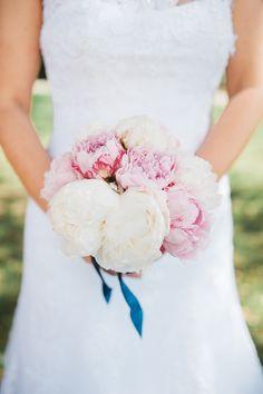 bouquet de mariée pivoine mariage