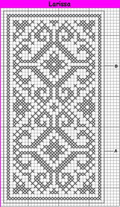 Crochet doilies rectangle free pattern 62 Ideas for 2019 Filet Crochet Charts, Crochet Cross, Knitting Charts, Crochet Home, Thread Crochet, Knitting Patterns, Free Crochet, Cross Stitch Borders, Cross Stitch Designs