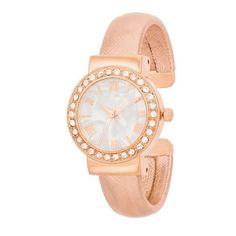 939b5f65738e Fashion Shell Pearl Cuff Watch With Crystals