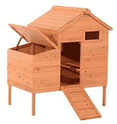 Shop for Pawhut Outdoor Raised Leg Hen House Chicken Coop - Light brown. Get free delivery On EVERYTHING* Overstock - Your Online Chicken Supplies Store! Best Chicken Coop, Chicken Coops, Raised House, Pen Store, Look Good Feel Good, Hen House, Animal House, Organization Hacks, Homemaking
