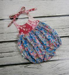 Handmade Baby Girls Ruffle Bottom Halter Bubble Sunsuit by BoutiqueElliEtte Etsy