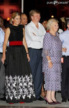 Reine Maxima roi Willem Alexander en Prinses Beatrix