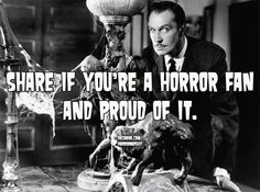 If you're a horror fan. Horror Icons, Horror Films, Vincent Price, Jeepers Creepers, Classic Horror Movies, Danse Macabre, All I Ever Wanted, Jason Voorhees, Vintage Horror