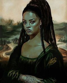 Image uploaded by Neffie. Find images and videos about art, rihanna and mona lisa on We Heart It - the app to get lost in what you love. Black Girl Art, Black Women Art, Black Art, Painting Inspiration, Art Inspo, Rihanna Drawing, Awkward Black Girl, Art Noir, Mona Lisa
