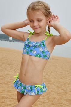 Print Little Pineapple Straps Shoulder Girls Bikini With Kids Swimwear Bikini Girls Pineapple print shoulder Straps Little Girl Bikini, Little Girl Swimsuits, Bikini Girls, Little Girls, Toddler Swimsuits, Cute Swimsuits, Preteen Girls Fashion, Swimsuit Pattern, Girl Bottoms
